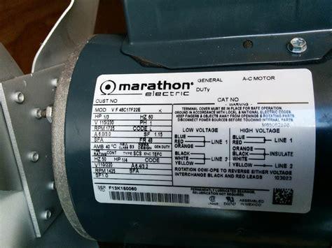 marathon electric motor  hp im