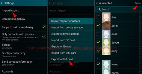 how to save contacts to sim card on iphone samsung galaxy s5 how to export contacts to a sim card in