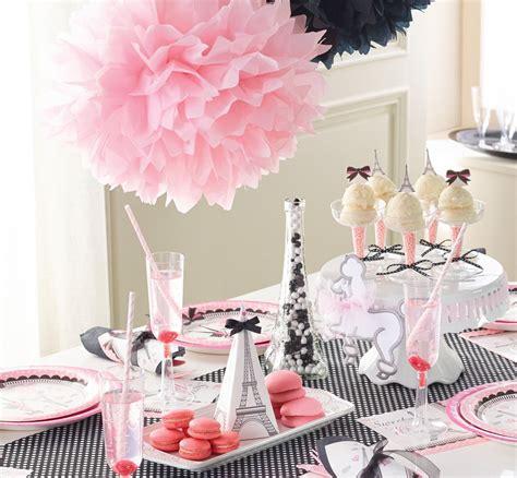 decoration anniversaire fille theme paris paris girl