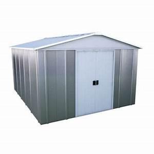 Abri De Jardin Metal Castorama : abri de jardin en m tal taupe nenagh ep 0 30 mm 10 76 m ~ Dailycaller-alerts.com Idées de Décoration
