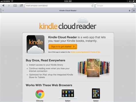 announces kindle cloud reader web app for mac