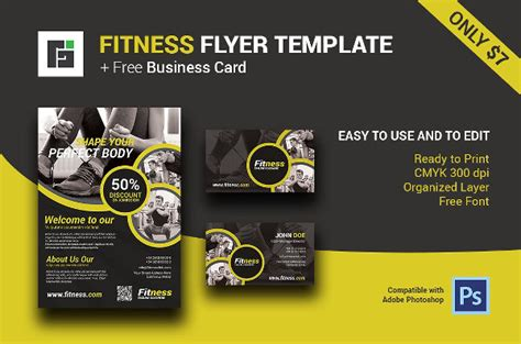 23+ Fitness Flyer Templates Business Card Logo Icon Templates For Free Microsoft Word Cards Template Coreldraw With Watermark Portfolio Website Phd Student Transparent Mockup