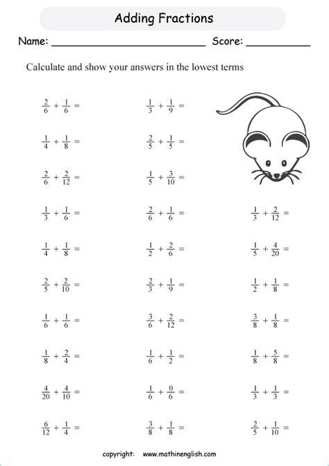 adding fractions  denominators   multiples