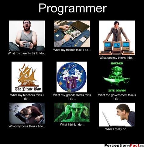 Programer Meme - programmer what people think i do what i really do perception vs fact