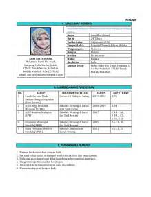 contoh surat resume bahasa inggeris contoh resume in bahasa melayu