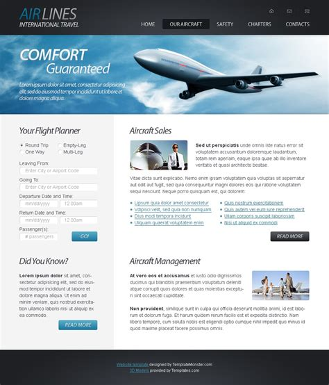 html website template airlines company