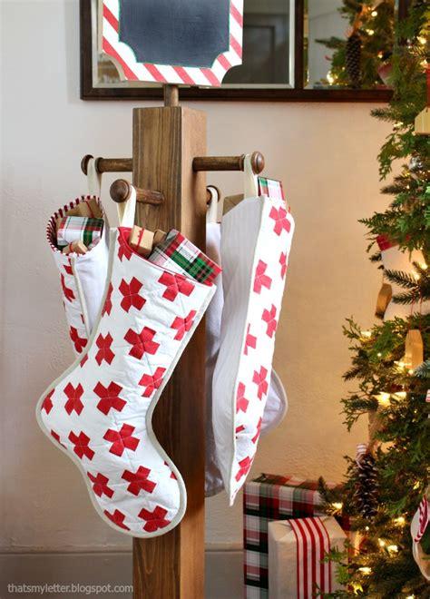 letter diy stocking post