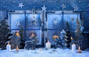 wallpaper christmas new year decorations candle snow fir tree star holidays 8211