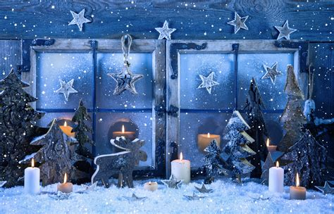 wallpaper christmas new year decorations candle snow