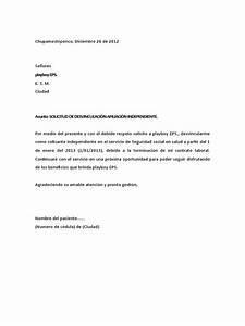 Cartas De Referencias Personal Carta De Desvinculación De Eps