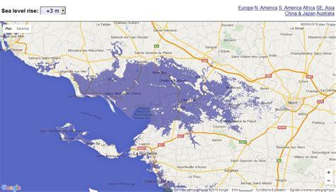 carte interactive de la mont 233 e du niveau des oc 233 ans
