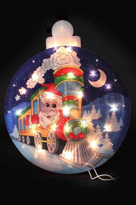santa on silhouette window light with 20 bulbs buy