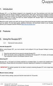 Quuppa Qt1 Tag Module User Manual