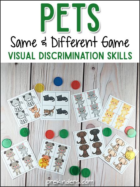 pets same and different for visual discrimination 740 | pet same different