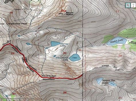 contour map national geographic society