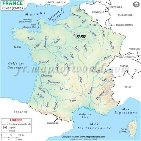 Carte De Avec Fleuves Et Rivières by Fleuves Fran 231 Ais Cartes Fleuve Francais