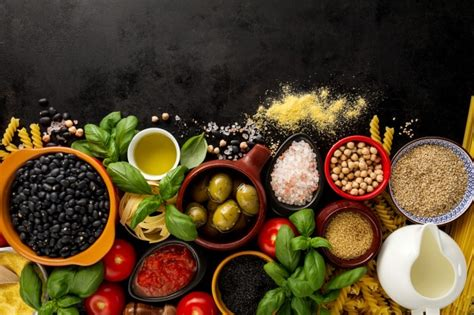 cuisine concept food background food concept with various tasty fresh