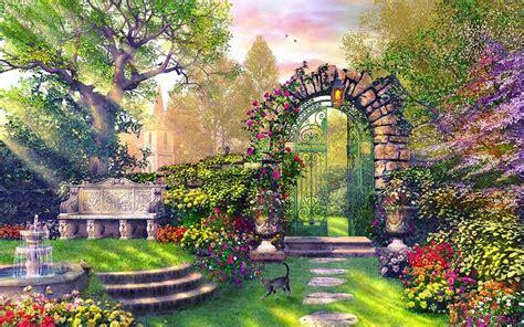 Enchanting Garden Wallpapers  Enchanting Garden Stock Photos