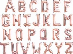 16 rose gold foil mylar letter balloons With letter balloons rose gold