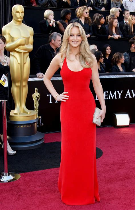 Looking Back At Jennifer Lawrences First Oscars Red