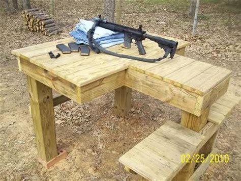shooting bench plans google search guns shooting