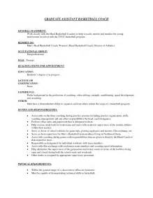 basic resume sle format youth basketball coach resume student resume template