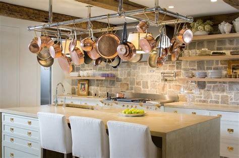 hanging pot racks  creative storage ideas   kitchen