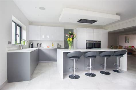 high gloss white matt grey hatfield blax kitchens