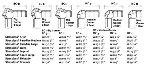 ekornes stressless recliner  sofa sizes dimensions