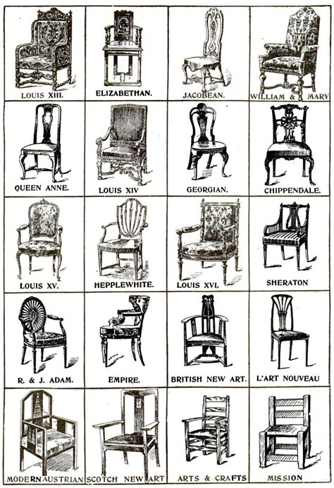chair types in 40 styles of chairs prop agenda