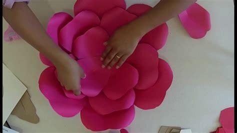 Como fazer Rosa Gigante Baixe o Molde grátis YouTube