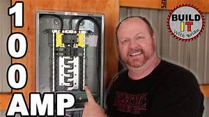 How To Install A Main Breaker Panel In A Garage  - Square D Homeline 100 Amp Main Breaker