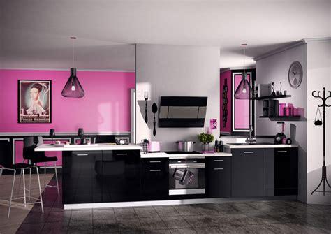 deco cuisine gris et noir cuisine noir et