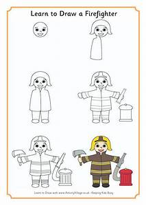 Learn To Draw A Firefighter