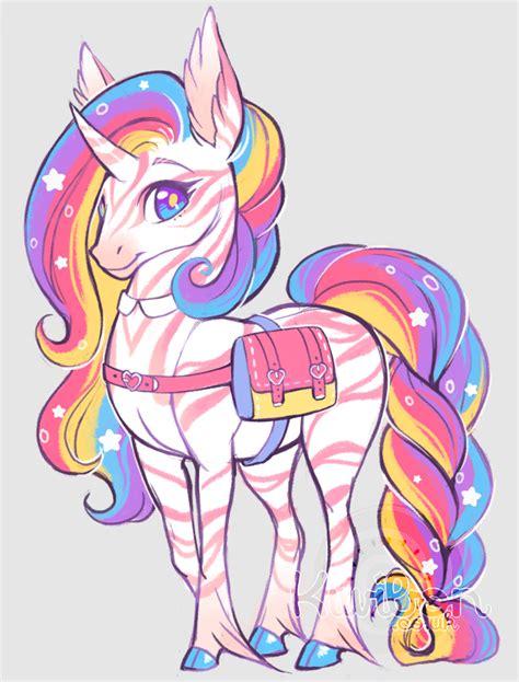 rainbow unicorn  kiwibon  deviantart