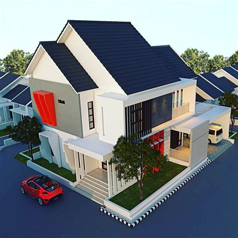 desain atap rumah minimalis modern  lantai desain