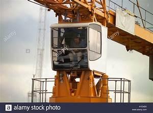 Crane Operator In Crane Cabin Stock Photo  1823973