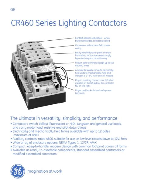 Ge 4 Pole Contactor Diagram by Ge Lighting Contactor Cr460 Wiring Diagram Shelly Lighting