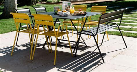 chaise de jardin couleur stunning table de jardin metal couleur contemporary