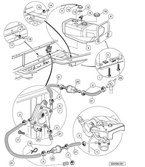 Golf Cart Fuel Diagram by 2006 2007 Club Car Ds Gas Or Electric Club Car Parts