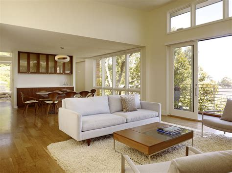 Minimalist Living Room Combination With Dining Room #5872