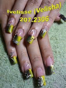 Nail art designs black and yellow images