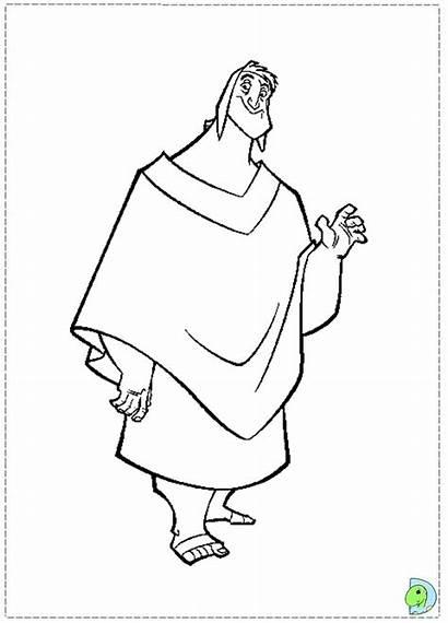 Coloring Groove Emperor Pages Kuzco Emperors Dinokids