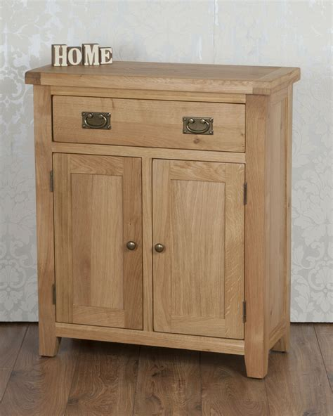 Oak 2 Door Sideboard by Solid Oak Slim 2 Door Drawer Sideboard Cabinet Cupboard In