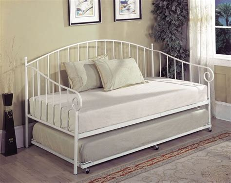 White Bed Frame And Mattress by White Metal Size Day Bed Daybed Frame With Trundle