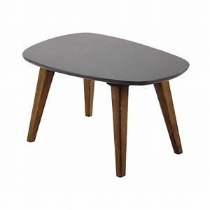 Table Basse Vintage En Bois Grise L 70 Cm Janeiro