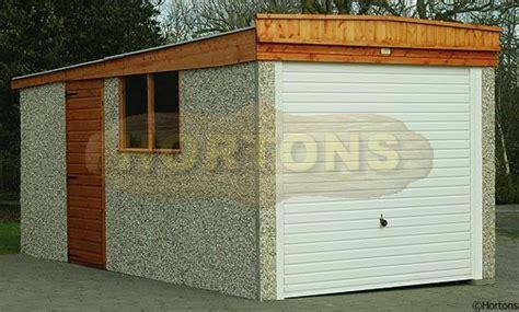 timber garages pent concrete garages