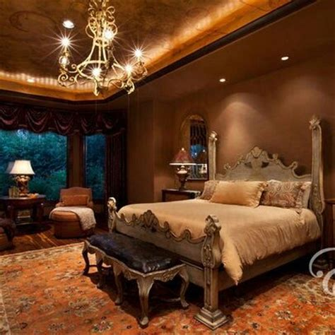 rich warm and beautiful tuscan bedroom architecture and