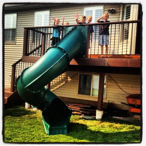 A Slide Off The Deck!  For The Home Pinterest