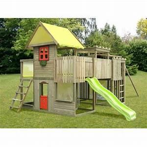 Portique Bois Pas Cher : maison enfant jardin pour le bonheur de vos enfants ~ Premium-room.com Idées de Décoration